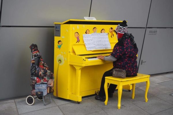 Piano Jaune DDP Seoul | Solidarité active | Collectif Eco-Solidaire Corée Taïwan