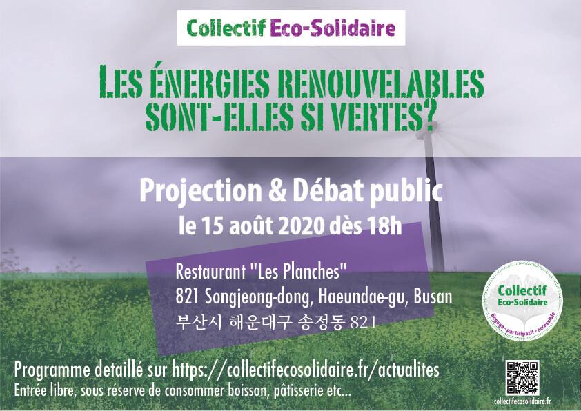 Café Citoyen Energies renouvelables Collectif Eco-Solidaire